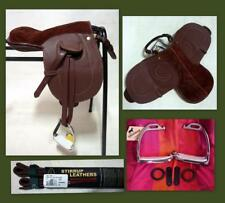 Henri de Rivel Advantage Pony Leather Leadline Saddle Option o/Leathers Stirrups