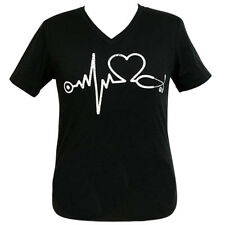Girlie Girl Originals Nurse Black Adult V-Neck Short Sleeve T-shirt