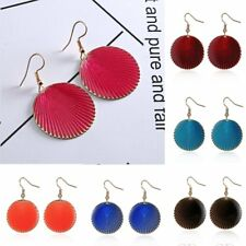 Retro Big Circle Round Shell Drop Dangle Hook Earring Womens Party Jewellery New