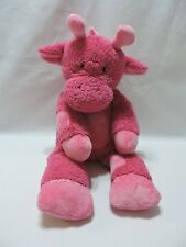 "Pottery Barn Kids Giraffe Plush Stuffed Animal 18"" Toy Pink PBK Soft Cute"