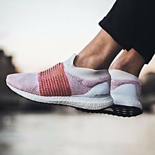ADIDAS ULTRA BOOST LACELESS WHITE RED PK PRIMEKNIT SIZE 7-12 NMD SHIPS NOW