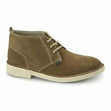Kickers LEGENDARY Mens Soft Suede Leather Smart Casual Desert Boots Tan/Nat New
