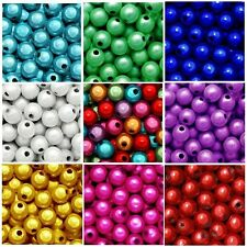 WHOLESALE MIRACLE BEADS 4MM 6MM 8MM ROUND CRAFT BEAD RED BLUE WHITE PINK COLORS