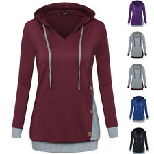 Fashion Women Long Sleeve Hoodie Hooded Sweatershirt Knitted Pullovers Coat