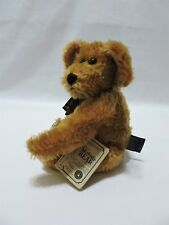 Boyds Mohair Teddy Bear Carter M Bearington Jointed Plush Brown 10""
