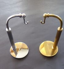 HALF ARCHED POCKET WATCH STAND - CHROME/GOLD PLATED - 12CM HIGH