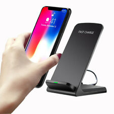Qi Wireless Fast Charger Charging Stand For iPhone X 8 Samsung Note 8 S8 Plus