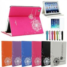 For Apple iPad 2 / 3 / 4 Smart Folio Leather Folio Case Cover Stand Dandelion
