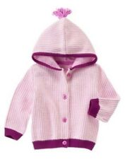 Gymboree NWT Girls Polar Princess Cardigan Hoodie Size 6-12 12-18 & 18-24 M