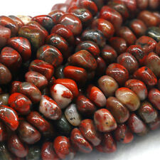 """Natural Genuine Red BRECIATED Jasper Nugget Loose Beads Free Form Beads 16"""""""