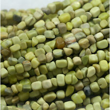 Natural Genuine Green Yellow Tallow Jasper Nugget Free Form Stone Beads