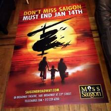 MISS SAIGON BROADWAY NYC 6FT 4X6 VINYL BUS SHELTER POSTER