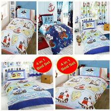 PIRATE THEMED DUVET COVERS VARIOUS DESIGNS & STYLES KIDS BEDDING NEW