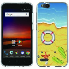 for ZTE Blade Vantage/Avid 4(Day at Beach)Clear TPU gel skin phone case cover