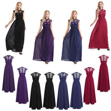Women Long Cocktail Bridesmaid Evening Party Prom Dress Vintage Maxi Dresses