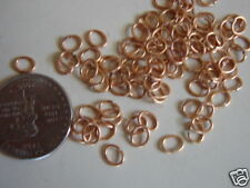 144 VINTAGE BRASS 6X5MM OVAL JUMP RINGS SALE