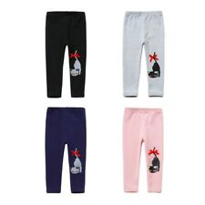 Infant Baby Girls Warm Leggings Soft Cotton Pants Cat Printed Trousers Bottoms
