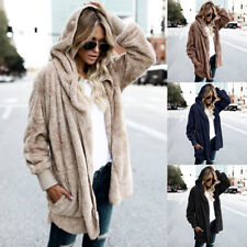 Womens Warm Long Sleeve Oversize Loose Knitted Sweater Cardigan Outwear Coat