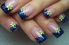 FINE GLITTER DUST BLING SPARKLY ROYAL BLUE NAIL ART 4 GEL NATURAL ACRYLIC #45