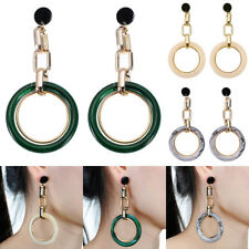 Fashion Gold Jewelry Hollow Resin Circle Round Hoop Drop Dangle Stud Earrings