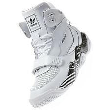 Adidas FYW Reign Mens Basketball White Hi-Top Sports Trainers Shoes D65389