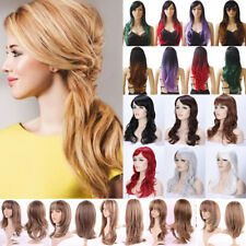 Fashion Women Full Hair Wig Natural Curly Wave Straight Ombre Blonde Hair Wigs 3