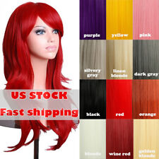Fashion  32'' Women'S Cosplay Wig Hair Wig Long Straight Costume Party Full Wigs
