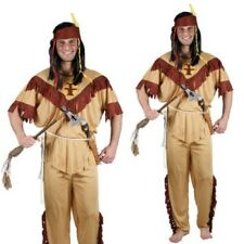Adults Indian Brave Costume Wild West Native Red Indians Mens Fancy Dress Outfit