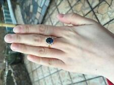 Blue CZ Cubic Zirconia Ring High Quality Rose Gold Color Bague Fashion Jewelry F