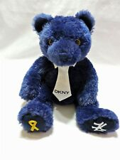 Ty Beanie Buddy Hope Bear NY Yankees DKNY SGA Plush Stuffed Animal 2011 Blue 14""
