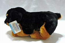 "Animal Alley Rottweiler Puppy Dog Plush Stuffed Animal 12"" Soft Toy Black Brown"