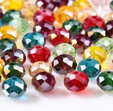 Colorful Czech Rondelle Spacer Crystal Glass Beads For Jewelry Making Faceted AB