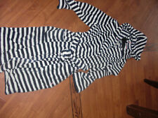BNWT LADIES JOULES RITA SUPER SOFT DRESSING GOWN FRENCH NAVY STRIPE  S/M OR L/XL