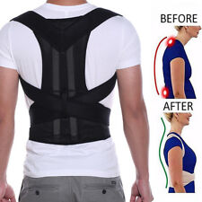 Magnetic Therapy Posture Corrector Body Back Shoulder Support Pain Belt Brace H