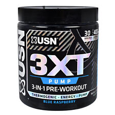 USN 3XT Pump 3-in-1 Pre-Workout Thermogenic Fat Burner Energy - 30 Servings