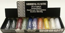 Shirring Elastic Sewing Knitting in Coloured, Silver Gold Metallic 20m Spool