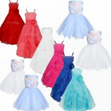 hot Flower Girl Dress Bridesmaid Wedding Communion Party Prom Princess Pageant