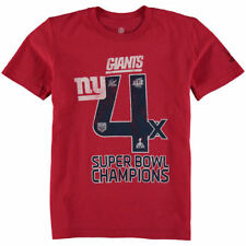 New York Giants Youth On the Fifty Super Bowl Wins T-Shirt - Red