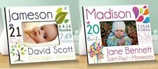 Baby Birth Announcement Picture Frame Boy or Girl Personalized Newborn Keepsake