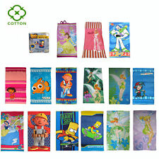 Cotton Licensed Cartoon Kids Girls Boys Children Beach Bath Towel or Towel Set