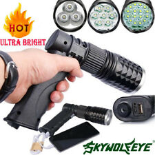Tactical 16x LED Rechargeable 80000 Lumens Flashlight USB Charger T6 LED Torch