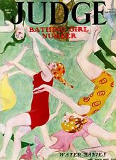 Judge Magazine Cover: 1926 James Montgomery Flagg - Water Babies