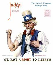 Judge Magazine Cover: 1918 James Flagg We Have A Right To Liberty