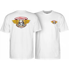 Powell Peralta Skateboard Shirt Winged Ripper White