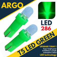 Super Bright T5 286 Led Xenon Green Dashboard Bulbs Speedo Wedge Bulb Lights 12v