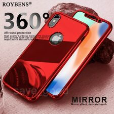 Luxury Mirror 360 Temper Glass Ultra Thin Shockproof Case For iPhone X 7 6 6S 5S