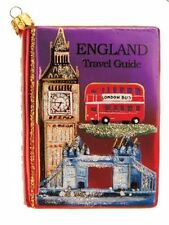 England Travel Guide Polish Blown Glass Christmas Ornament London UK Decoration