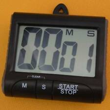 LCD Digital Kitchen Timer Count-Down Up Clock Loud Alarm Black Red Blue Large