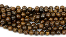 Discount Wholesale Natural Gold Bronzite Round Loose Beads 3-18mm Jewelry Sets