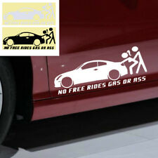 Funny Car Window Sticker No Free Rides Gas Or Ass Waterproof Truck Bumper Decal